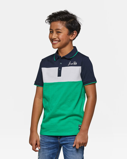 Jongens colourblock polo Blauw