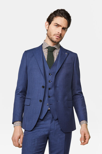 Heren slim fit blazer Matera Marineblauw
