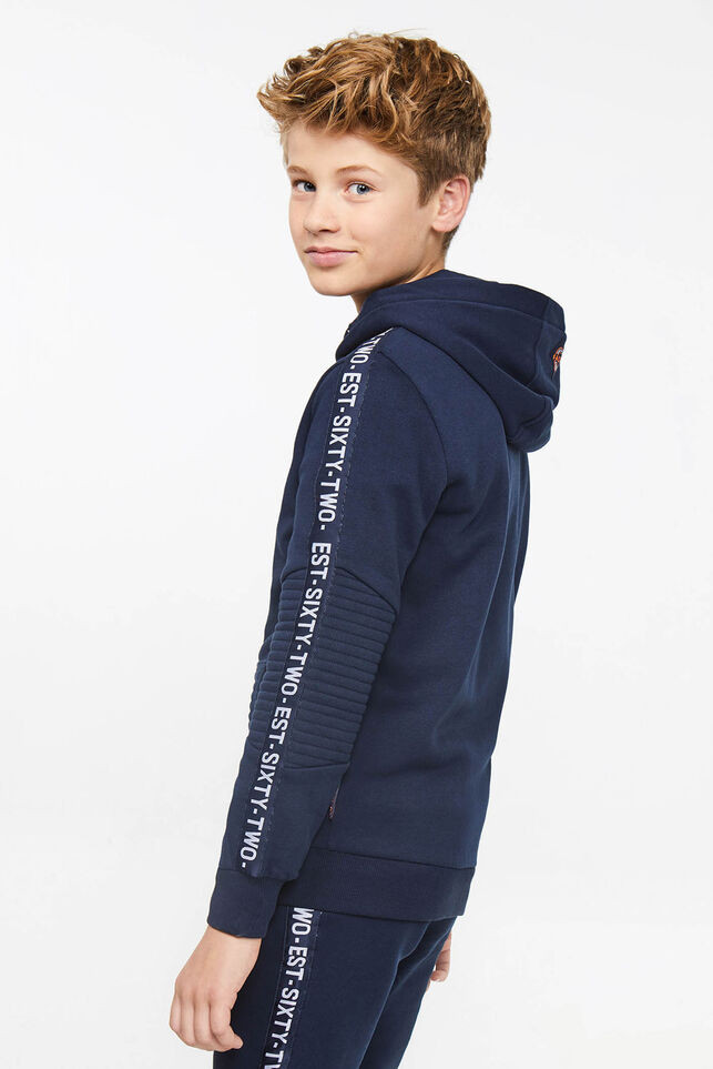 Jongens sweater met tapeddetail Marineblauw