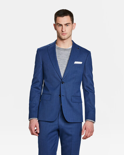 HEREN SLIM FIT BLAZER BANDON Blauw