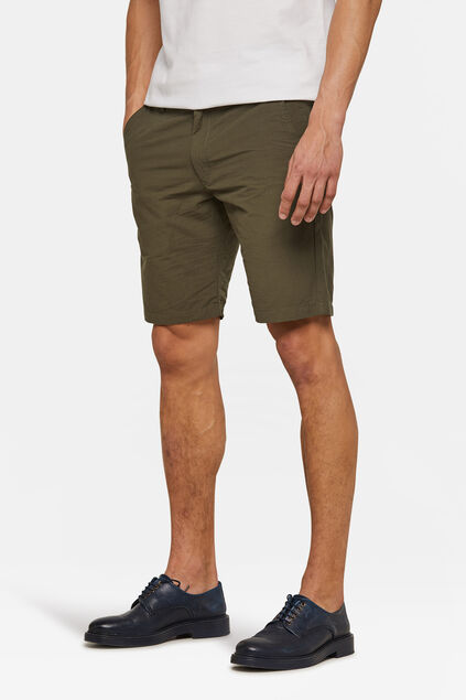 Heren regular fit chino short Khaki