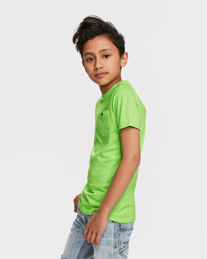 JONGENS ONE POCKET R-NECK T-SHIRT Felgroen