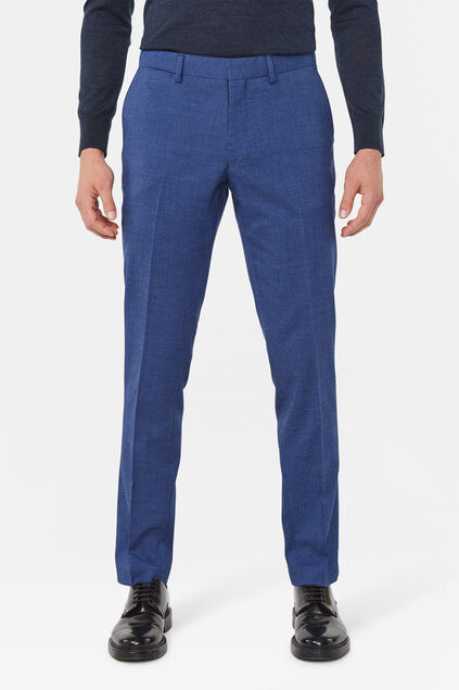 Heren slim fit pantalon Benjamin Marineblauw