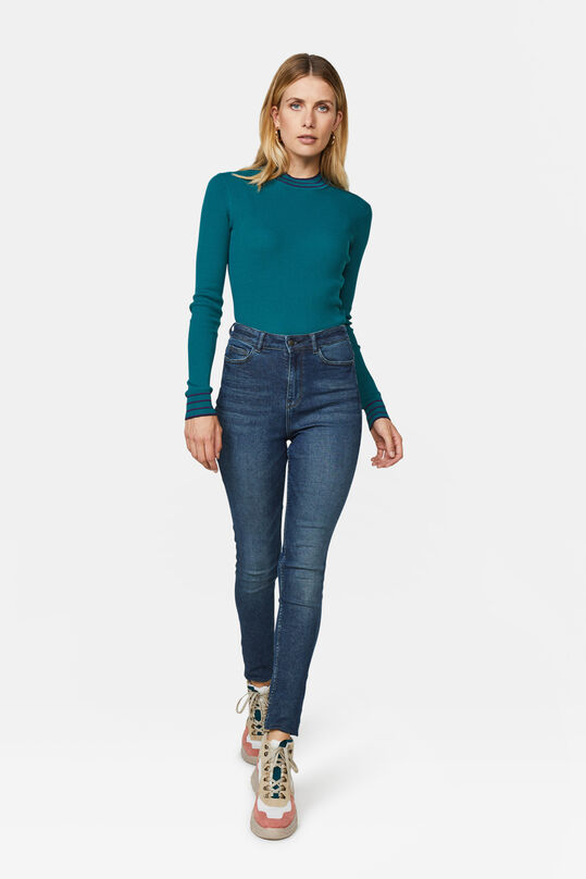 Dames high rise super skinny jeans Donkerblauw