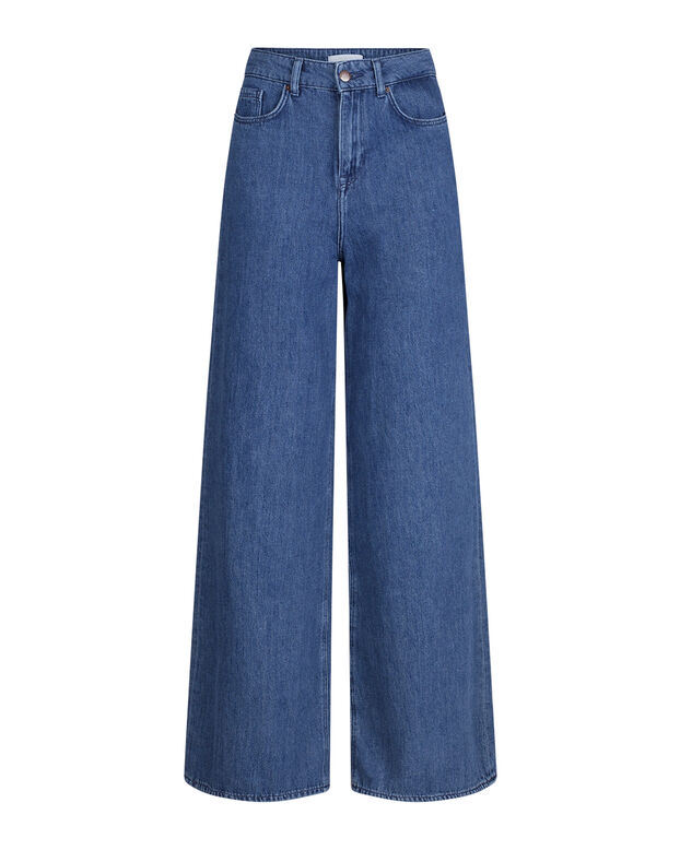 DAMES HIGH RISE WIDE LEG JEANS Blauw