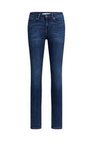 Dames mid rise super skinny jeans met super stretch_Dames mid rise super skinny jeans met super stretch, Donkerblauw