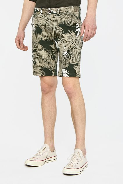 Heren chinoshort All-over print