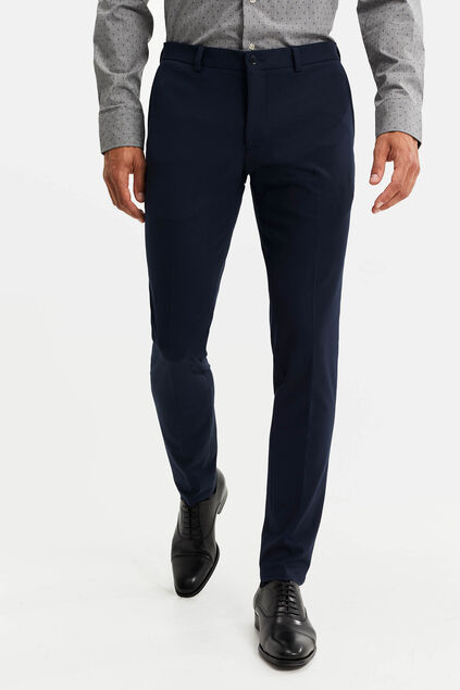 Heren slim fit pantalon, Verge Donkerblauw