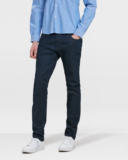 HEREN SKINNY TAPERED SUPER STRETCH JEANS Marineblauw