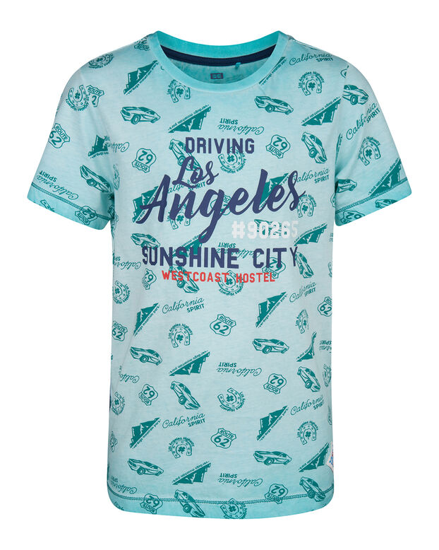 JONGENS LOS ANGELES T-SHIRT Turkoois