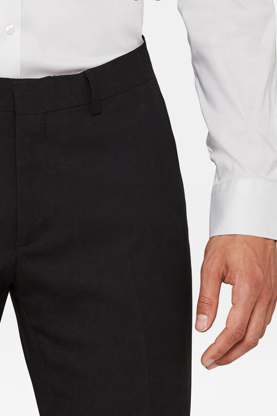 Heren regular fit pantalon, Dali Zwart
