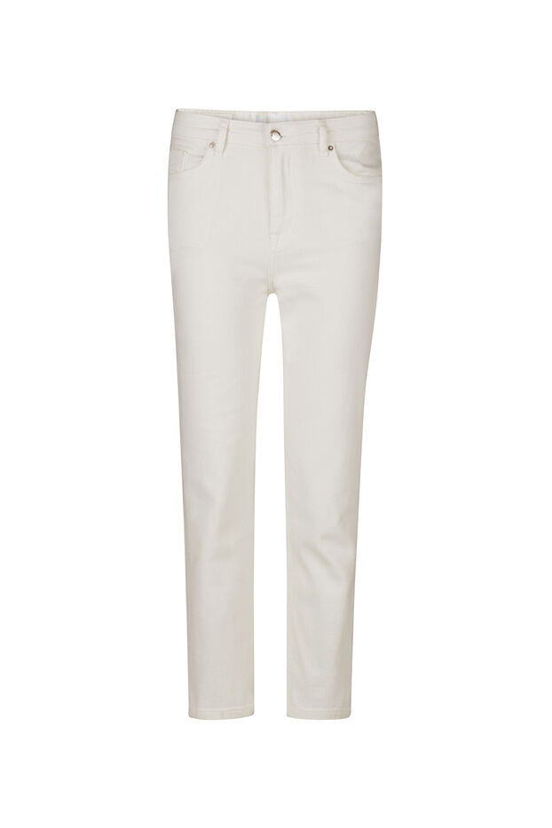 Dames high rise straight leg jeans Wit