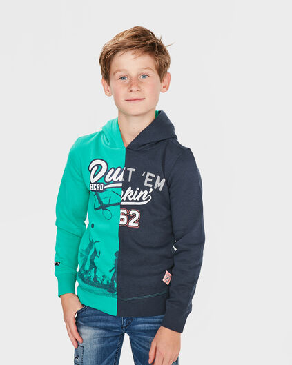 JONGENS HERO HOODY SWEATER Groen