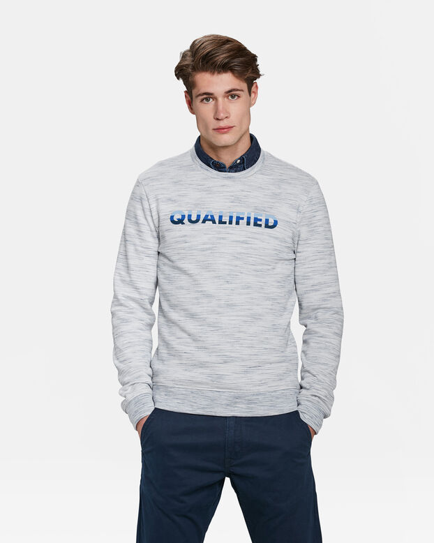 HEREN QUALIFIED DESSIN SWEATER Wit