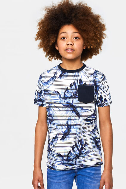 Jongens T-shirt met botanisch dessin All-over print
