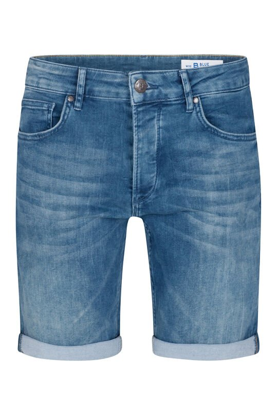 Heren regular fit jog denim short Grijsblauw