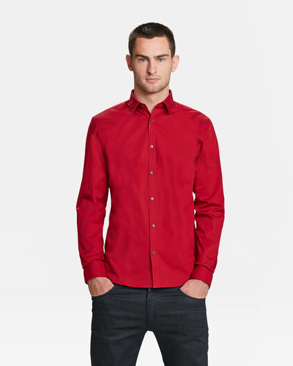 HEREN SLIM FIT STRETCH OVERHEMD Rood