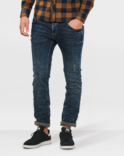HEREN SLIM TAPERED SUPER STRETCH JEANS Indigo