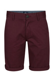 Heren regular fit chino short_Heren regular fit chino short, Bordeauxrood