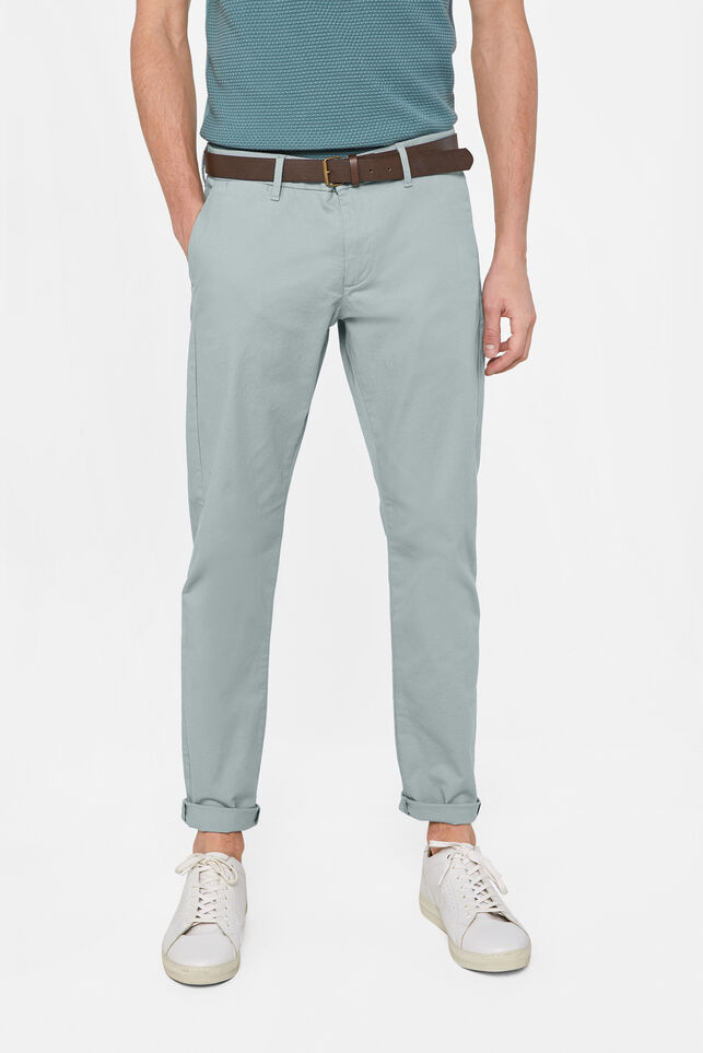 Heren slim fit chino Lichtgroen