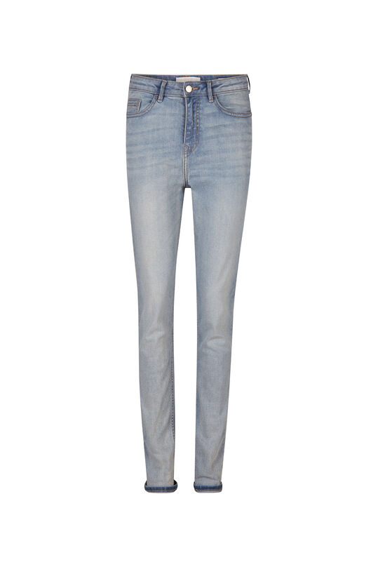 Dames high rise comfort stretch skinny jeans Lichtblauw