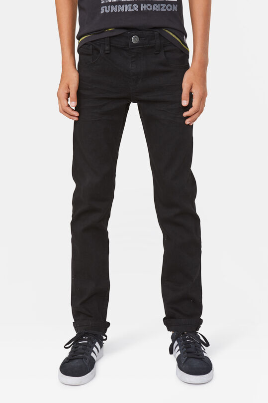 Jongens regular fit super stretch jeans Zwart