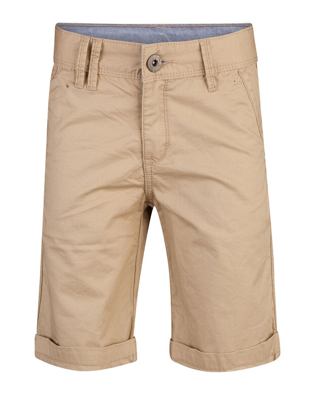 JONGENS REGULAR FIT GARMENT DYED CHINO SHORT Beige
