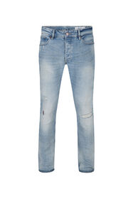 Heren skinny tapered comfort stretch jeans_Heren skinny tapered comfort stretch jeans, Lichtblauw