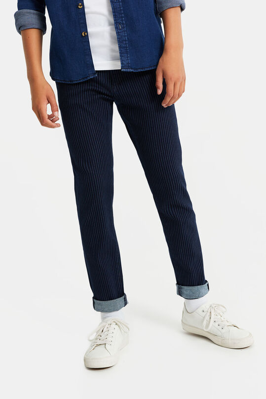 Jongens slim fit chino Donkerblauw