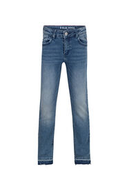 Meisjes regular fit stretch jeans_Meisjes regular fit stretch jeans, Donkerblauw