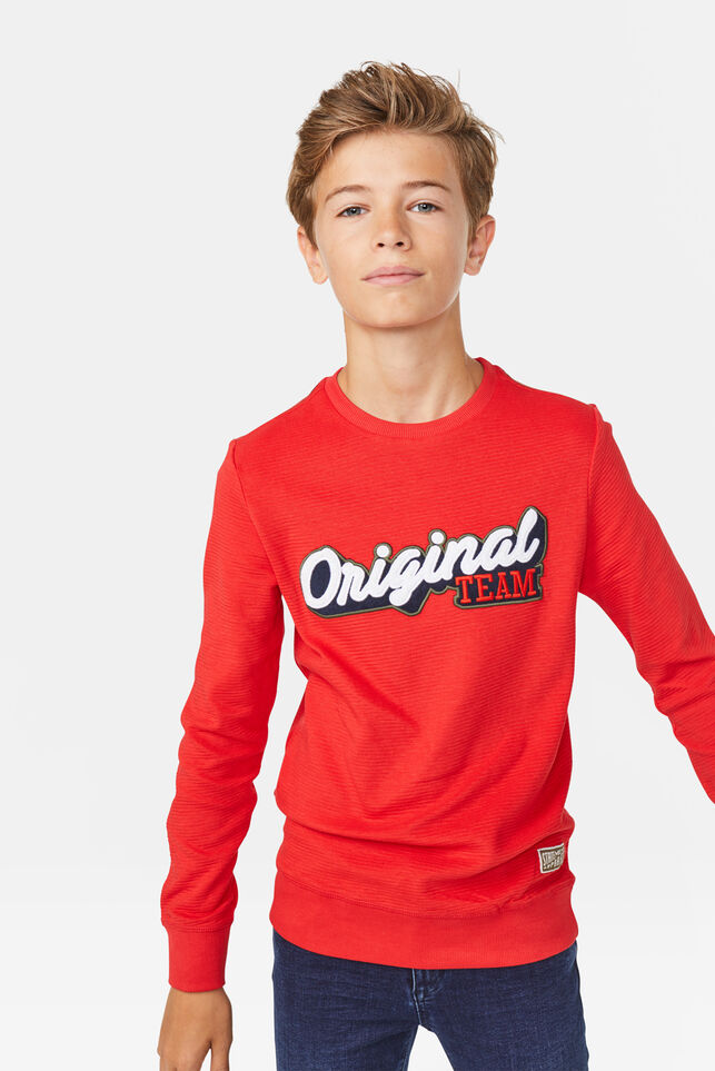 Jongens original team T-shirt Rood