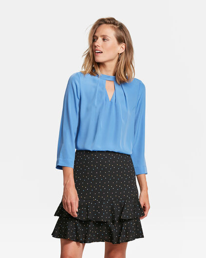 DAMES CUT OUT TOP Lichtblauw