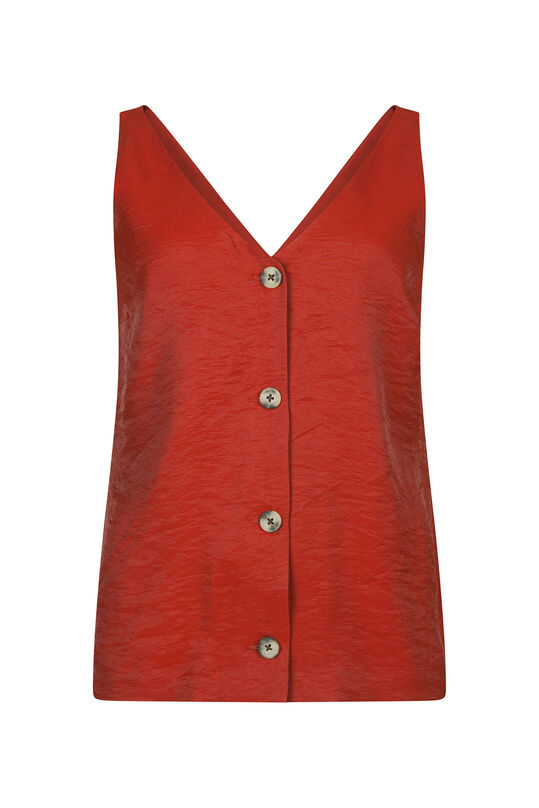 Dames knoopdetail top Rood