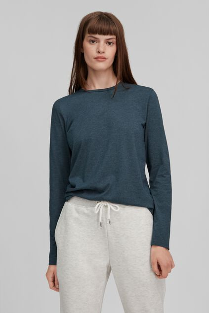Dames O`Neill Essential Crew Long Sleeve T-Shirt Donkerblauw