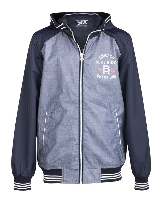 JONGENS BLUE RIDGE HOODED JACKET Donkerblauw