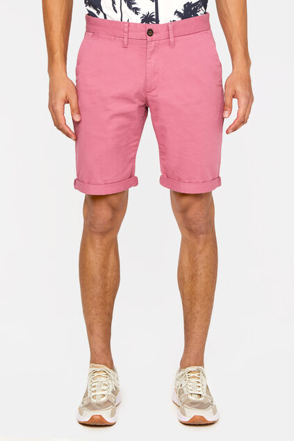 Heren slim fit chinoshort Roze