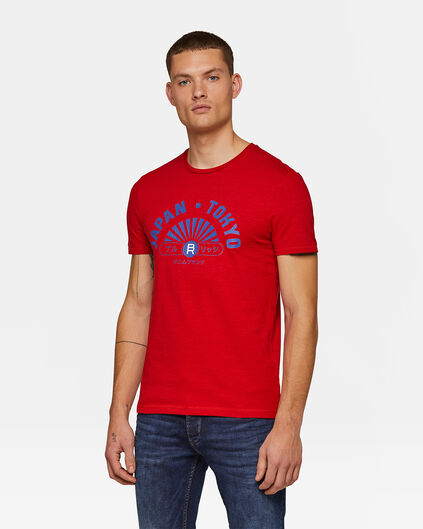 Heren Japan T-shirt Rood