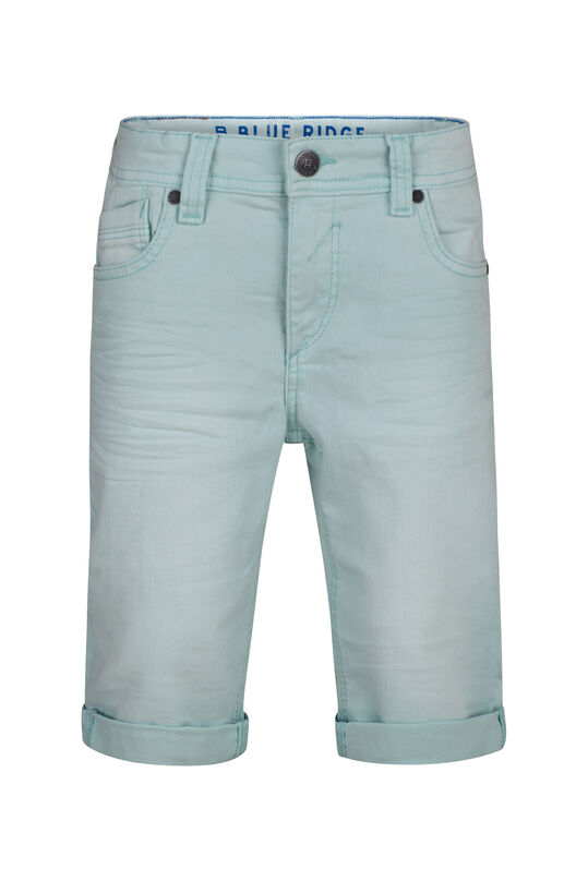 Jongens denim short Turkoois