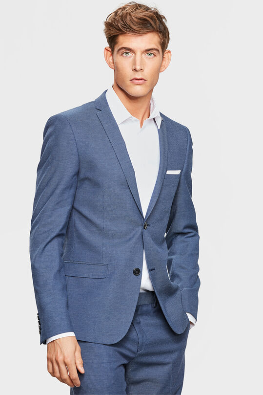 HEREN SKINNY FIT BLAZER COLIN Marineblauw