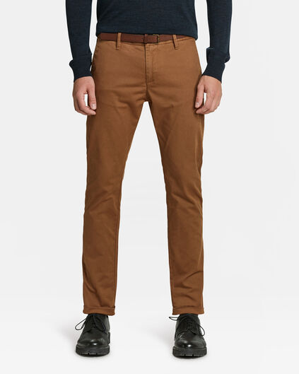 HEREN SKINNY FIT CHINO Kaneelbruin