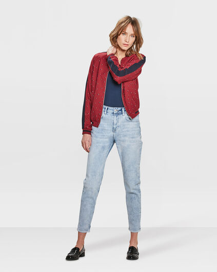 DAMES HIGH RISE TAPERED GIRLFRIEND COMFORT STRETCH JEANS Lichtblauw