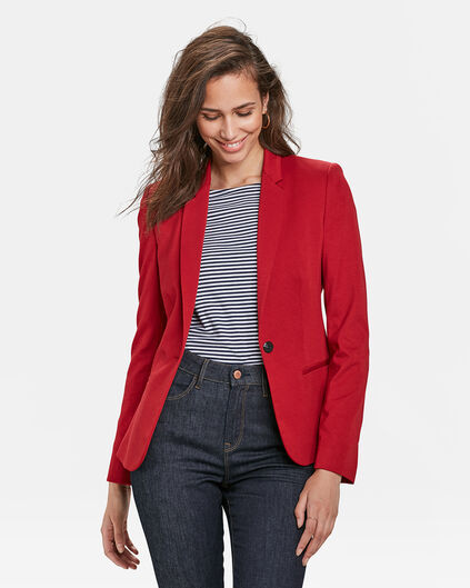 DAMES JERSEY SLIM FIT BLAZER Lichtrood