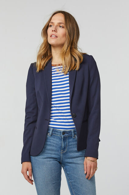 Dames regular fit blazer Donkerblauw