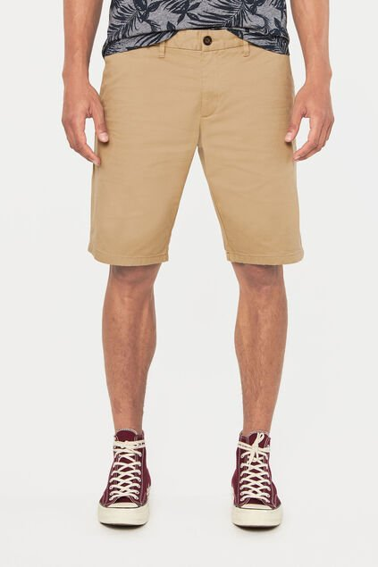 Heren tall fit chinoshort Beige
