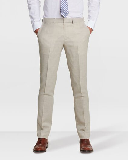 HEREN SLIM FIT PANTALON LANARK Taupe