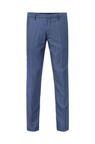 Heren slim fit pantalon met dessin Salem_Heren slim fit pantalon met dessin Salem, Marineblauw