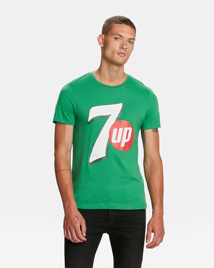 HEREN 7 UP LOGO PRINT T-SHIRT Felgroen
