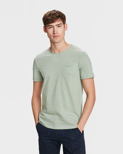 HEREN CHEST POCKET T-SHIRT Lichtgrijs