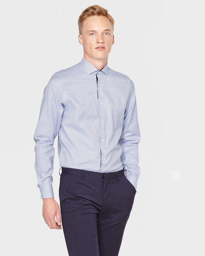 HEREN REGULAR FIT FINEST COTTON OVERHEMD Donkerblauw