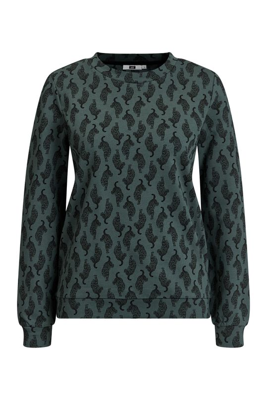 Dames sweater met dierendessin All-over print